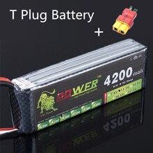 Lion power 3S 11.1v 4200mah Lipo Battery 30c T XT60 JST Plug