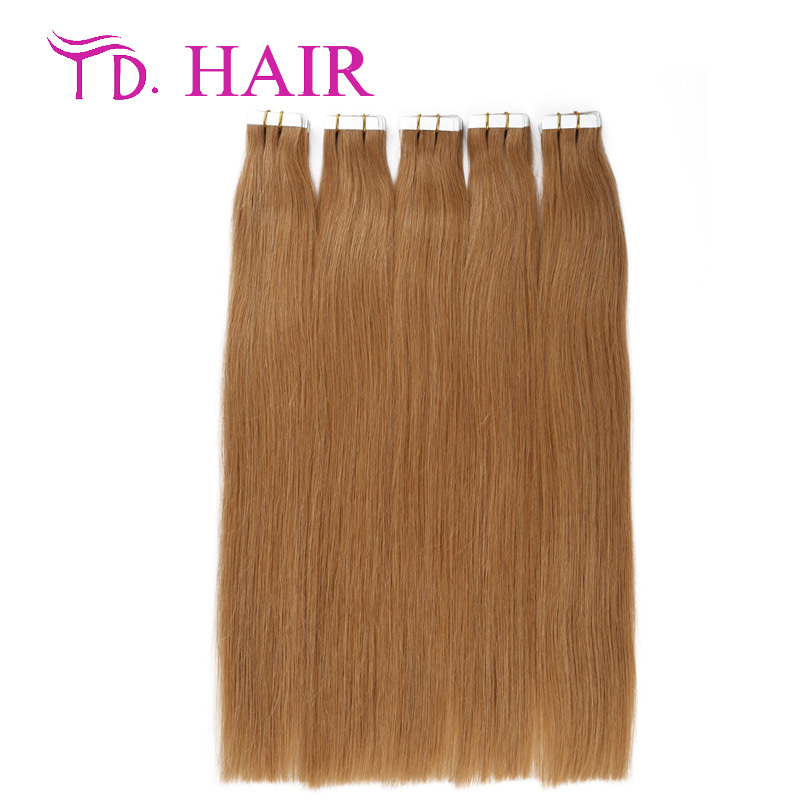 #18 tape in human hair extensions double drawn light color brazilian human hair 20pcs 40pcs human hair weave
