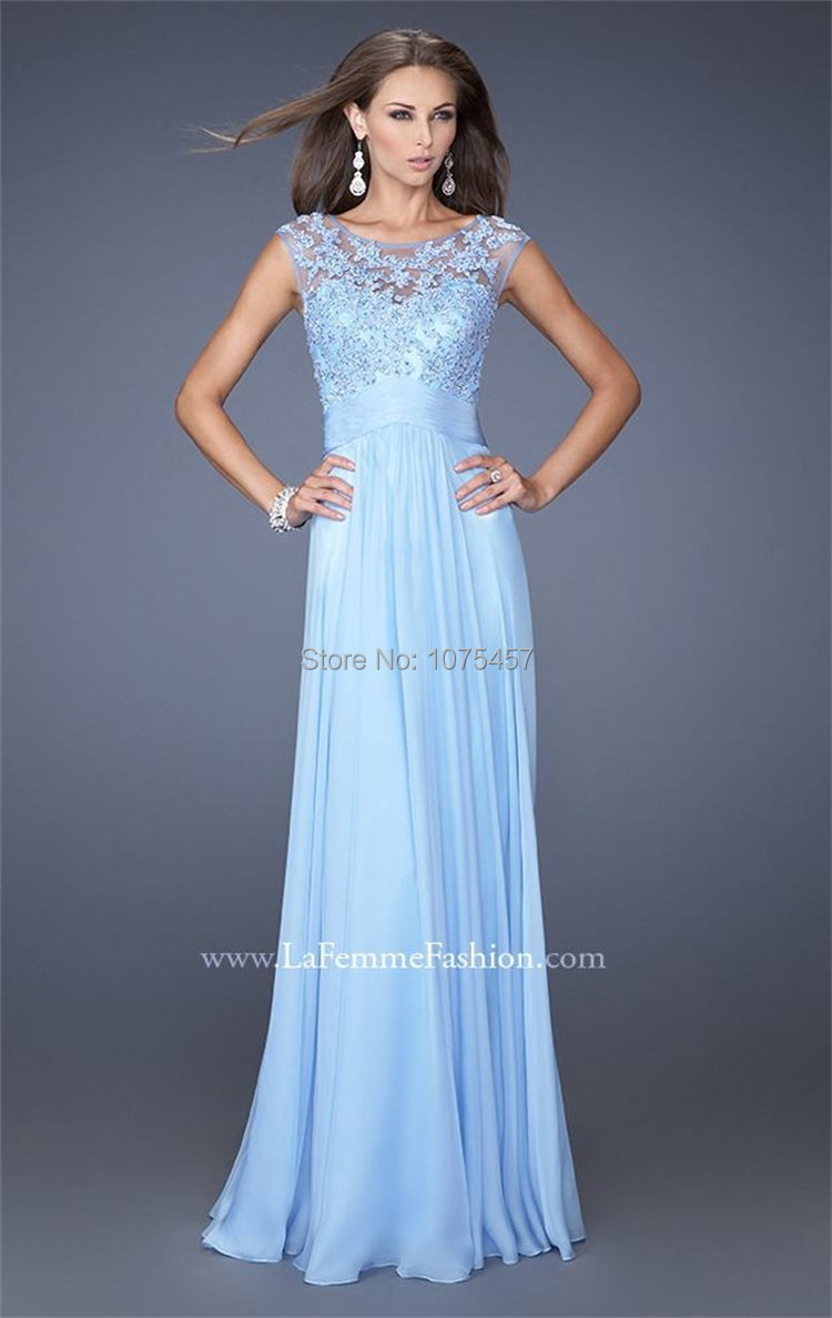 Online Get Cheap Light Blue Short Prom Dress with Long Lace Sleeve ...