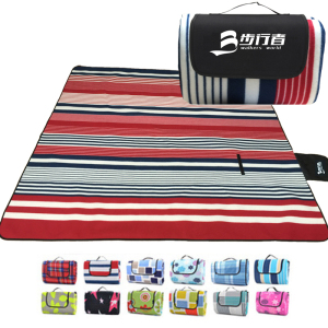 Image 2 - 200*200CM Beach Mat Blanket Outdoor Beach Cushion Camping Multiplayer Foldable Baby Climb Plaid Waterproof Picnic Sand Free Mat