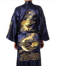 Spedizione gratuita! donne cinesi raso di seta dell'abito del ricamo drago kimono bath gown drago sml xl xxl xxxl wr004