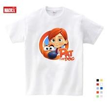 New Boys Girls T-shirt Summer White Kids Tees Baby Girl Shirts Cartoon Printing Children Short Sleeve  T Shirt Tops все цены