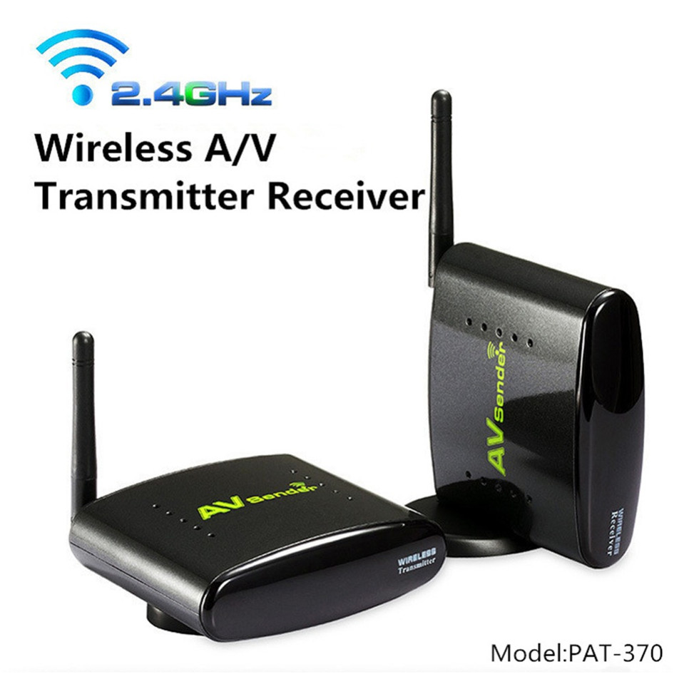 ФОТО 2016 New PAT-370 2.4GHz 500m Wireless AV A/V Audio Video Sender Transmitter and Receiver With EU US UK AU Plug for PAT370