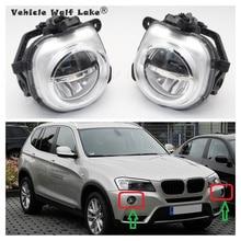 2 шт. светодиодный дневные ходовые огни для BMW X3 F25 2009 2010 2011 2012 2013 спереди светодиодный DRL Противотуманные светильник противотуманная фара в сборе без ошибок