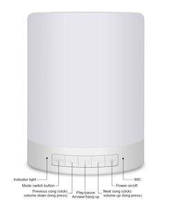 Image 5 - Đèn ngủ có Loa Bluetooth Di Động Không Dây Bluetooth Điều Khiển Cảm Ứng ĐÈN LED Màu Đầu Giường Đèn
