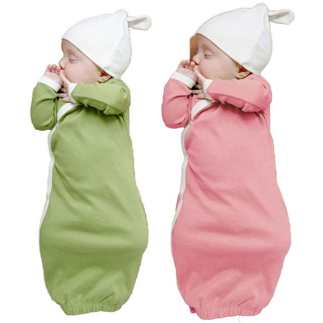 Comfortable Baby Sleeping Bag Sleep Gowns Robes Long Sleeve With Cap ...