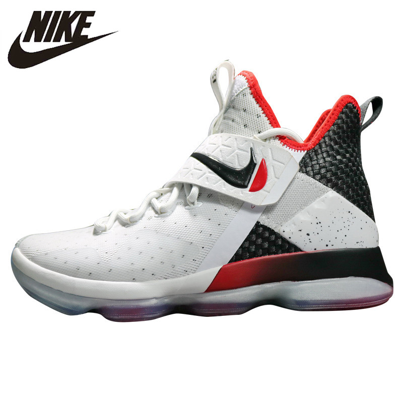 on sale 2a6d9 f0728 US $143.52 40% OFF|Nike LeBron 14 Red Men's Basketball Shoes, Red/White,  Shock Absorbing Breathable Non slip Wear Resistant 921084 600 921084 103-in  ...