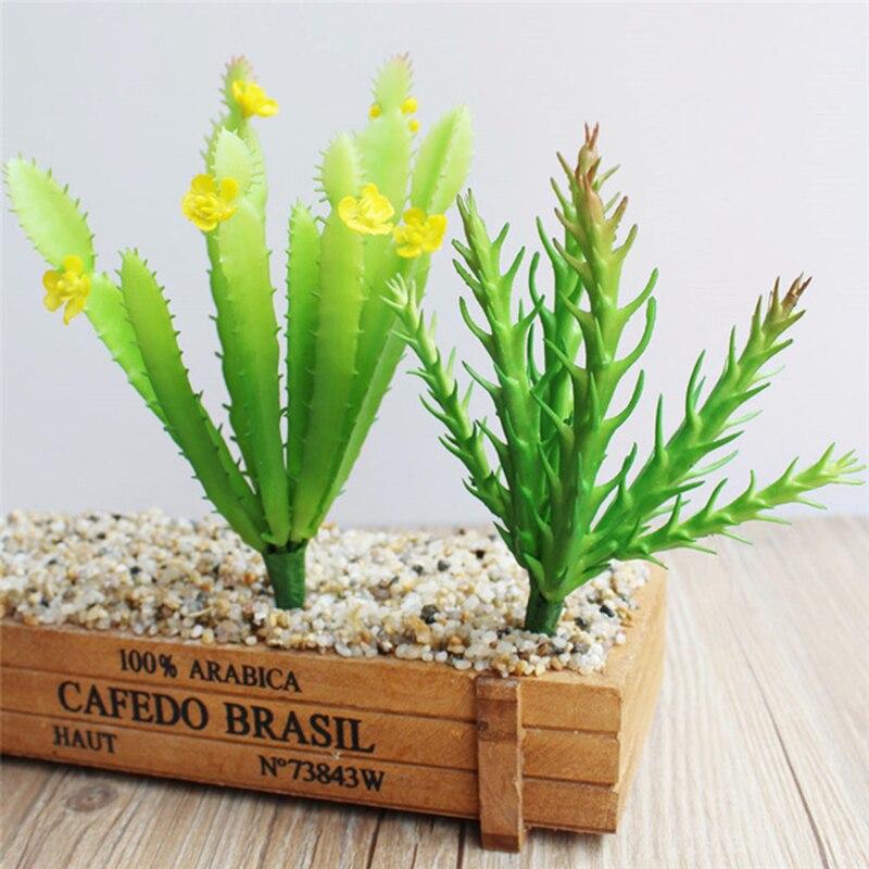 DIY Prickly Cactus Column Simulation Succulents Artificial Plants Flower Arrangement Floral Home Garden Decoration D