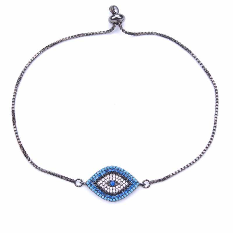 1 St Micro Pave Cz Zirkoon Turkije Evil Eye Snake Chain Armband Voor Vrouwen Meisje Verklaring Armband Sieraden Bevindingen Maken Winst Klein
