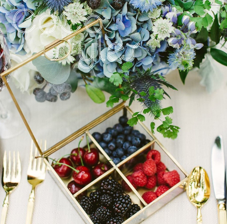 Storage-Box Square Event-Decoration Gold-Frame Wedding Custom Party Glass Blank