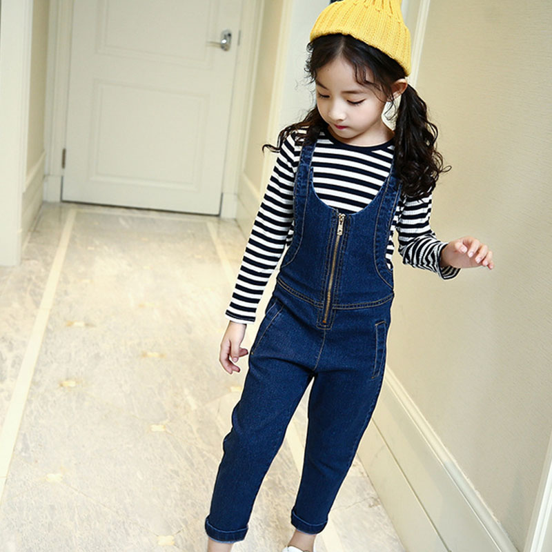 2018 2pcs cute kids baby toddler girls clothes set autumn clothing sets girl 2018 striped t shirts and jeans pants suits girls fashion brand autumn children girl clothes toddler girl clothing sets cute cat long sleeve tshirt and overalls kid girl clothes