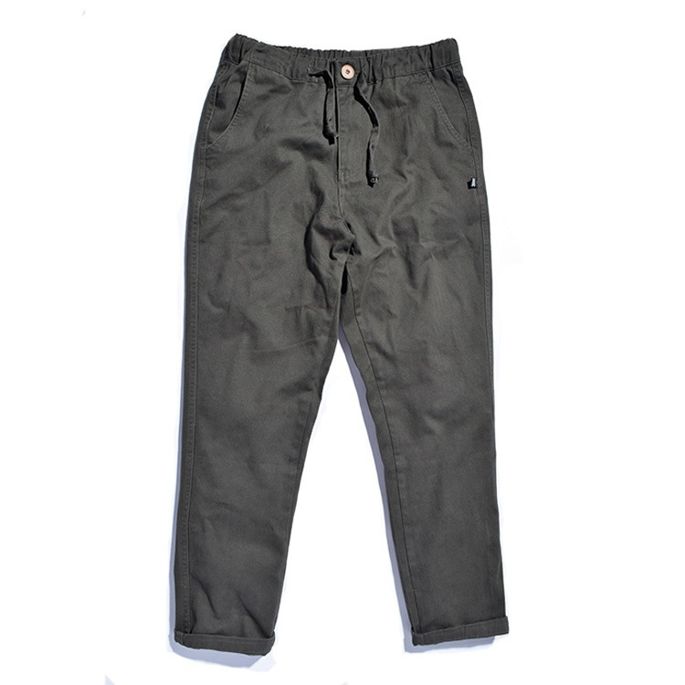 Tide brand same style mens lounge pants, pure color twill mens pants in autumn and winter