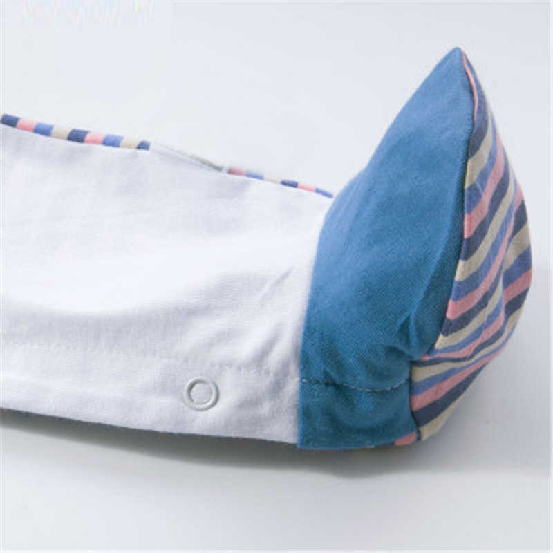 Unisex-Bé Quần Yếm ngủ trưa Nút Cổ Tròn 100% Cotton Dài Tay Dễ Thương Mềm Mại Thoáng Khí Liền Quần 3-18 Tháng