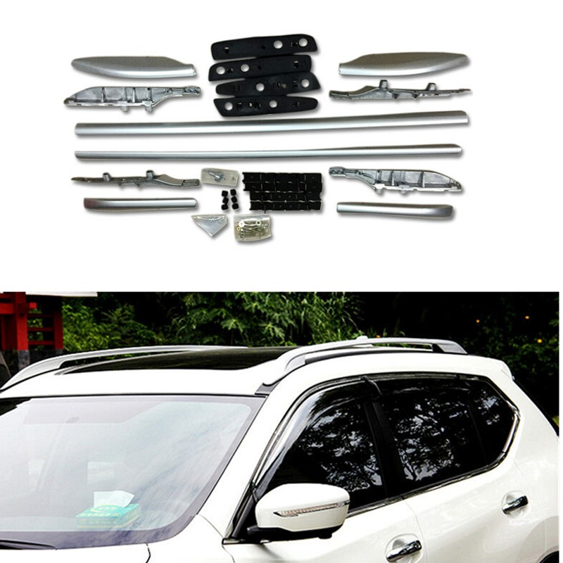 Car-Styling ! Accessories  Silver Roof Rack Side Luggage Carrier Bars  1set   for Nissan X-trail Rogue 2014 2015 2016 2017Car-Styling ! Accessories  Silver Roof Rack Side Luggage Carrier Bars  1set   for Nissan X-trail Rogue 2014 2015 2016 2017