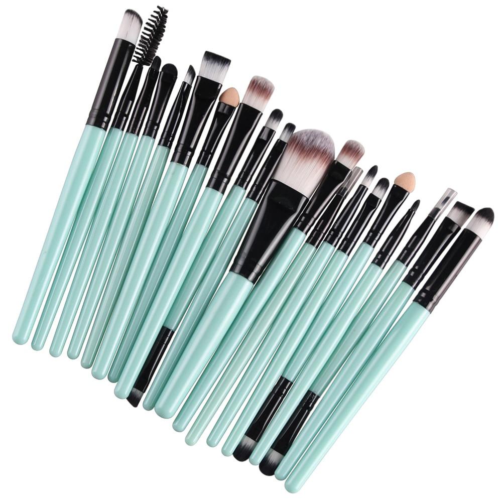 20 Pcs Pro Makeup Set Powder Foundation  Eyeliner Eyelash Eyeshadow Blusher Powder Foundation Brushes Cosmetic Beauty Kit