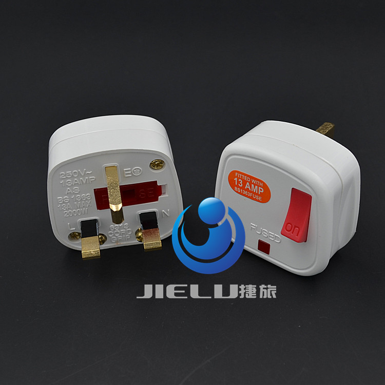 50 pcs, Malaysia, Singapore, UK, Ireland,HK Rewireable Plug BS1363 13A Fuse Main Switch LED Indicator, malaysia