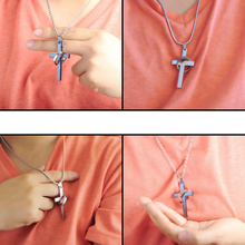 OBSEDE High Quality Men's Jewelry Alloy Bible Cross Circle Pendant Necklace Chain Fine Jewelry for Women Accessory 3 colors