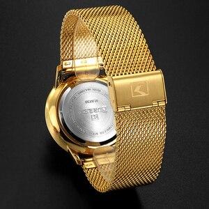 Image 5 - Moda złoty zegarek męski Curren zegarki kwarcowe pełne nierdzewne pasek stalowy Relogio Masculino prosty zegarek na rękę