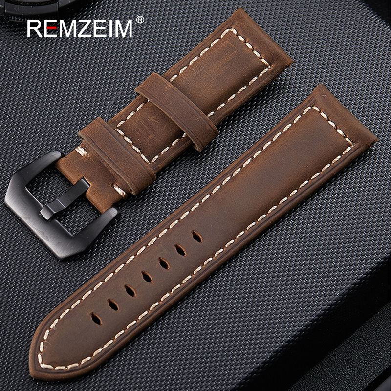 Genuine Leather Watchband 20mm 22mm 24mm 26mm Crazy Horse Nubuck Sports Outdoor Watch Band Buckle Strap relogio pulseira wholesale 10pcs lot 20mm 22mm 24mm 26mm genuine leather crazy horse leather watch band watch strap man watch straps black buckle