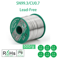 500g 1.1LB Lead Free Solder Wire Sn99.3 Cu0.7 Rosin Core for Electrical Solder RoHs