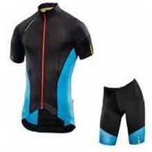 Mavic 2017 Pro Team M Summer Mountain Racing Bike Clothing/Breathable Quick Dry Cycling Jersey Sets+9D Gel Pad BIB Shorts