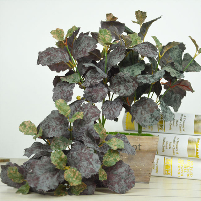 Artificial Plants 7 heads Leaves Plants Fake Tree Floral Decor Table ...