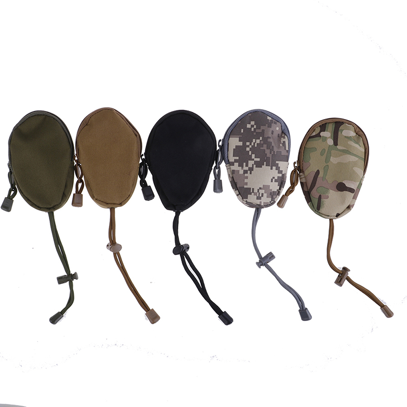 1PC New Men Coin Purses Mini EDC Key Wallets Holder Small Pocket Keychain Zipper Case Out Door Pack Pouch Military Army Bag(China)
