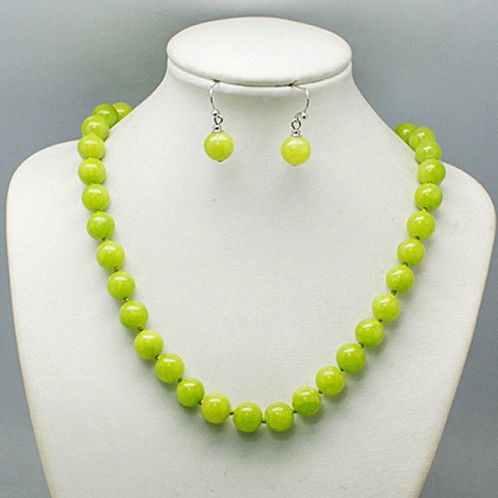 1811 bead necklace set magnetic clasp, lime green, orange, aqua, navy - Balouli(China)