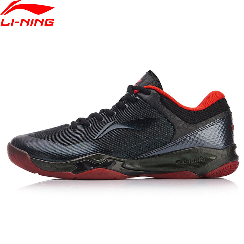 Li-ning hommes attaque professionnel Badminton formation chaussures coussin portable doublure BOUNSE + chaussures de Sport baskets AYZN005 XYY099