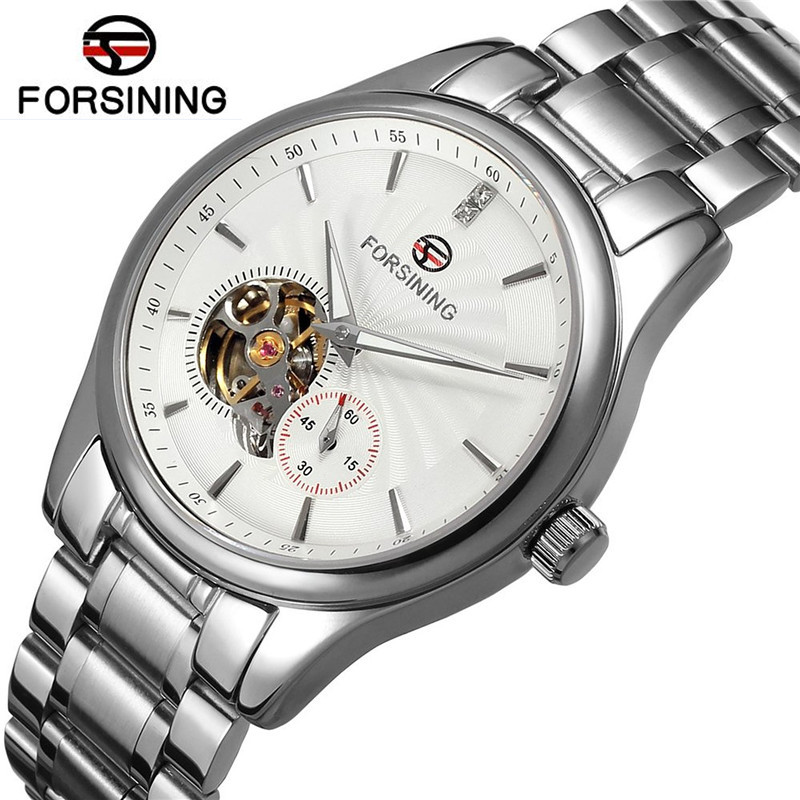 ФОТО Forsining Mens Watches Top Brand Luxury Automatic Hollow Out Mechanical Watch Wristwatch Gift Box Free Ship