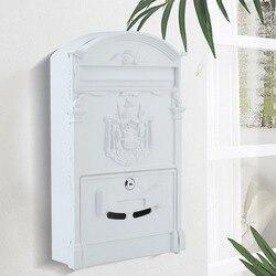 Главная почтовый ящик на стену античный почтовый ящик литой газета письмо почтовый ящик с замком коробка садовый орнамент