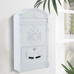 Home Mailbox Mail Box Wall Mailbox Antique Letter Box Cast Newspaper Letter Mail Post Box Mail Case Lockable Box Garden Ornament