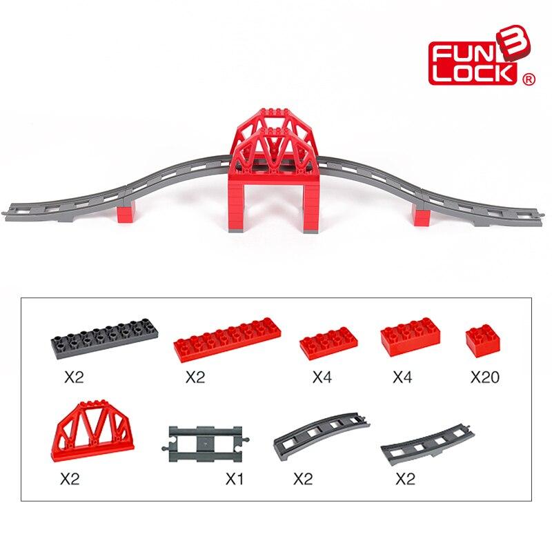Funlock Duplo 39pcs ойыншықтар көпір көпір - Дизайнерлер мен құрылыс ойыншықтары - фото 5