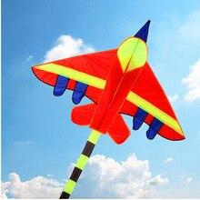 Высокое качество длинные хвосты воздушный змей-истребитель Детские воздушные змеи с ручкой линии hcxkite фабрика открытый цвета