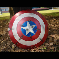 Aviation aluminum alloy Captain America Shield Thor's Hammer Cosplay 1:1 Avengers Weapon Replica Including Stand