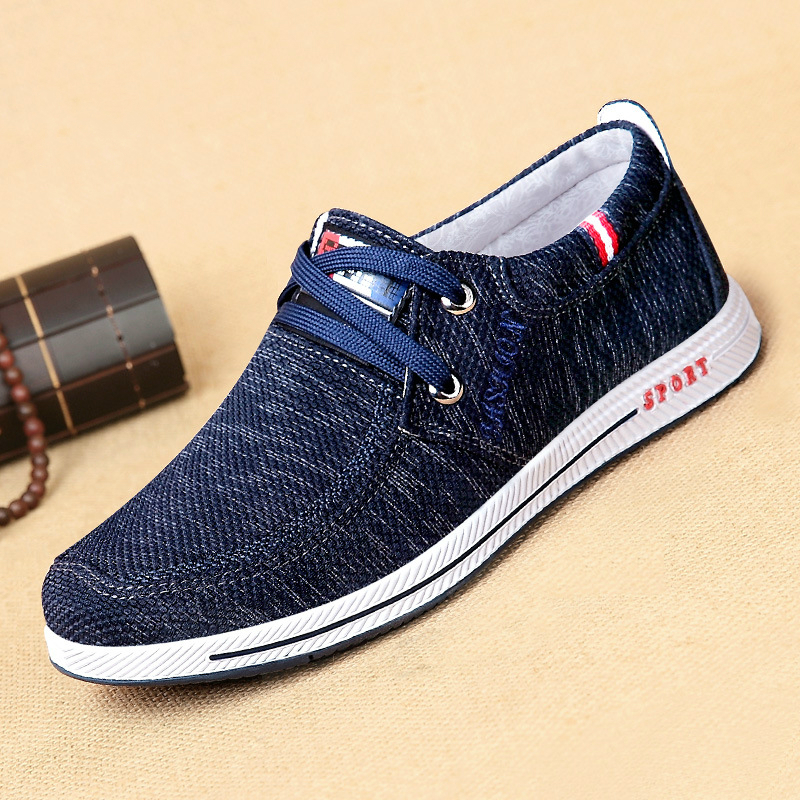 BACKCAMEL 2018 New Men's Canvas Shoes Spring Autumn Casual Shoes Breathable Quality Casual Denim Canvas Shoes for Men Size 38-44
