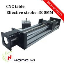 Módulos de alta Precisión Lineal carrera útil de 300mm tornillo de la Bola SFU1605 linear bearing NEMA 23 del motor de pasos para la tabla del CNC