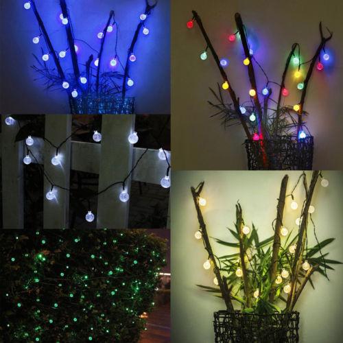 Saulės energiją naudojančios naktinės šviesos styginių lempos 4.8M 20 LED pasakų krištolo rutulys vandeniui Xmas atostogų lauko sodas vakarėlio dekoro El viela