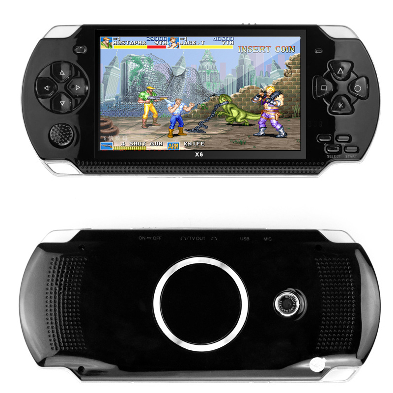 Handheld Game Console 4.3 inch screen mp4 player MP5 game player real 8GB support for psp game,camera,video,e-book Free Shipping