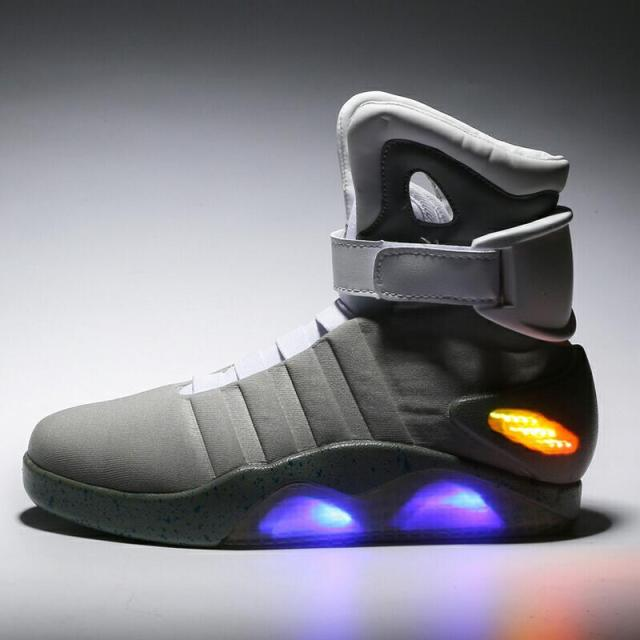 ae42db29832 Men High Top basketball shoes Luminous sneakers Men Led Shoes Glow In The  Dark Lighting Footwear For Male Adults Plus Size