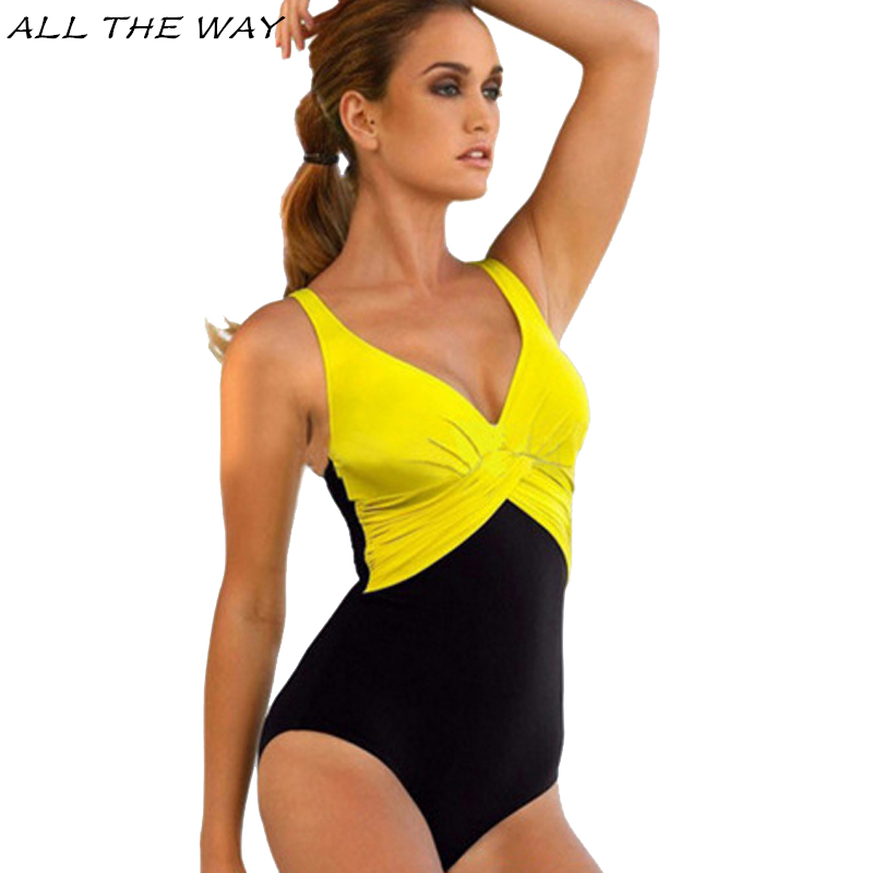 Monokini One Piece Swimsuit Women Plus Size Tankini Swimwear 2017 New Sexy Beach Female Large Size Bathing Suit Biquin 4XL YT135 2017 women sexy halter one piece swimsuit sports large size bathing suit monokini swimwear girl kyl1741 free shipping