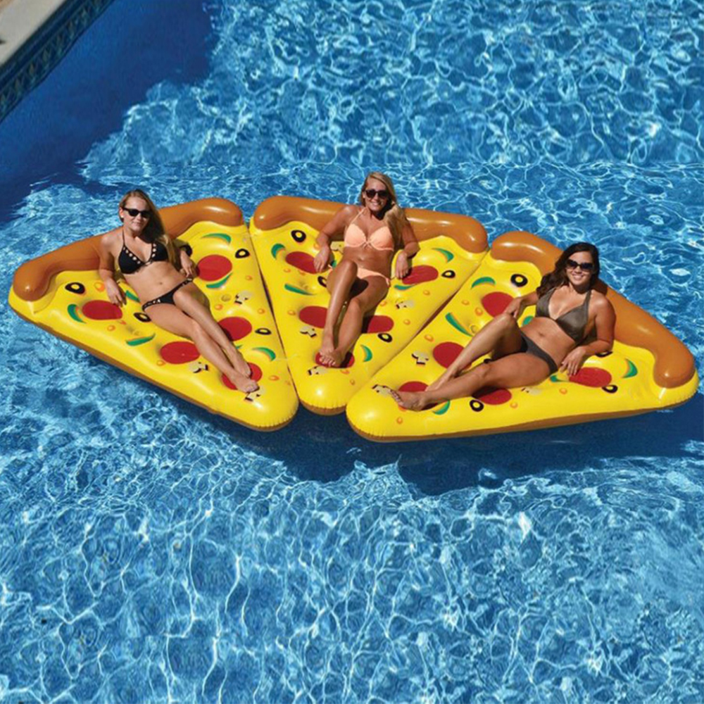 180*150 Cm Swimming <font><b>Pool</b></font> Mat Pizza Row Color Floating Bed Baby Inflatable Floats Mattresses For Swimming <font><b>Pool</b></font> Toys <font><b>Water</b></font> <font><b>Pools</b></font> image