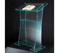 Hot Sell Pulpit Stand Acrylic Podium Acrylic Church Podium Pulpit For Sale Clear