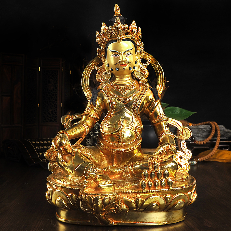 30 CM large # HOME OFFICE Talisman efficacious House Protection # Gilding brass Tibetan Buddhism Zanbala  buddha statue30 CM large # HOME OFFICE Talisman efficacious House Protection # Gilding brass Tibetan Buddhism Zanbala  buddha statue