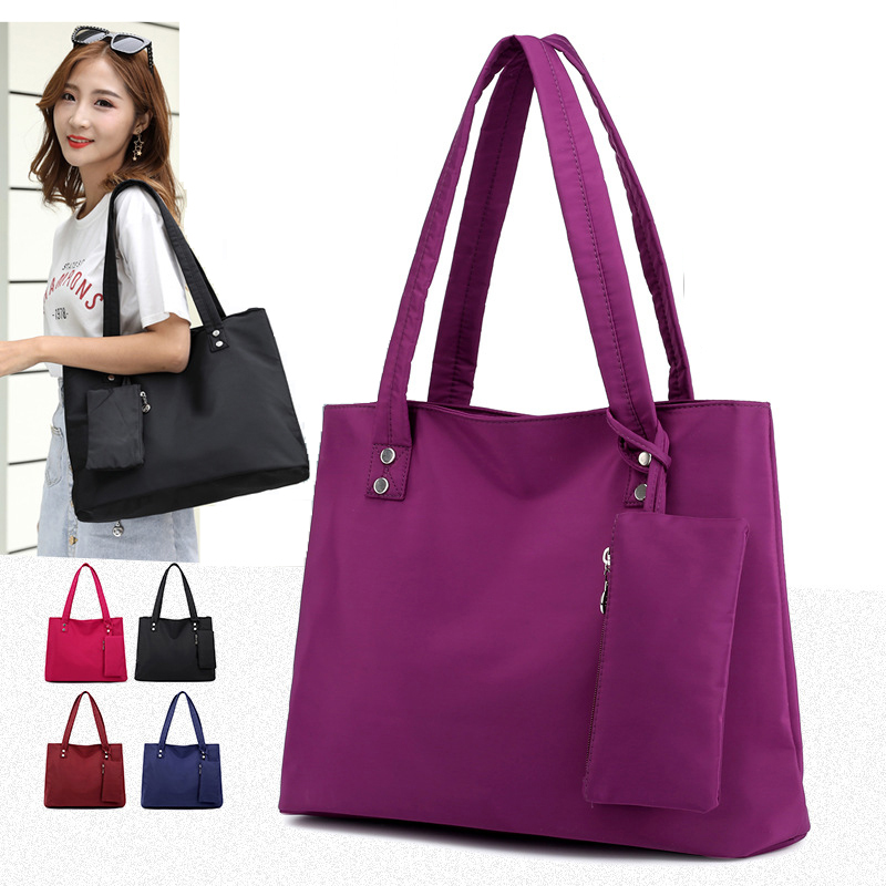 Oxford grande capacidade de ombro longo bolsa sacola de compras praia top-lidar com sacos 2 peças conjunto feminino designer bolsas de náilon