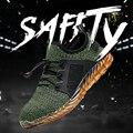 Мужская Безопасная рабочая обувь  светильник  вес  стальной носок  рабочие ботинки  мужские противоразбивающие строительные безопасные кро...