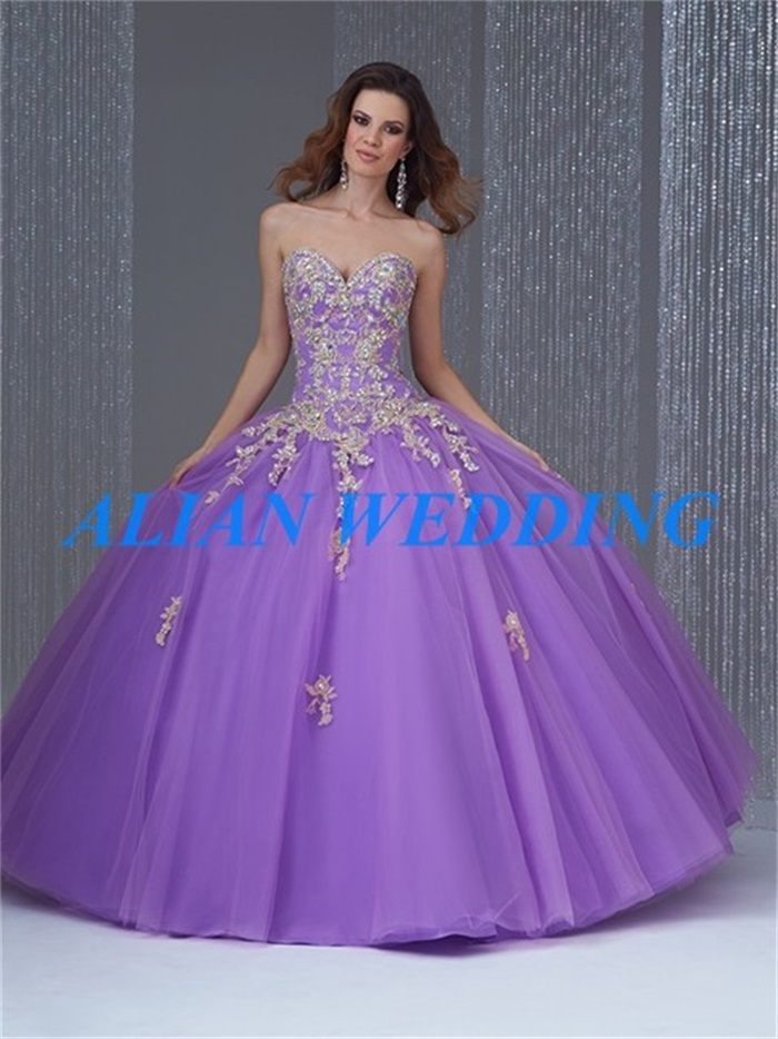Modest Design Lilac Quinceanera Dresses 2015 Sweetheart ...