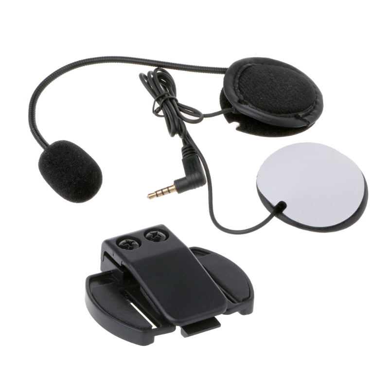 Motorcycle Earphone Speaker Intercom Freedconn Accessories 3.5mm Jack Plug &Clip For V4 V6