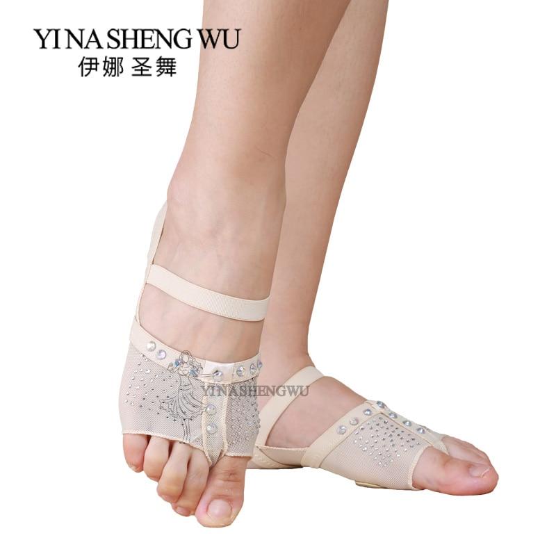 1 Pair Belly Dancing Foot Thong Dance Socks Shoe Toe Pads Belly Dance Practice Socks Ballet Dance Shoes Accessories Professional