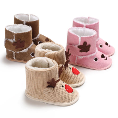 cecdda21f 2018 Brand Christmas New Warm Boots Toddler Infant Baby Girls Snow ...